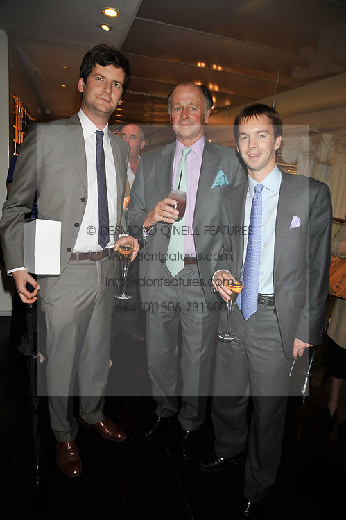 SIMON PARKER BOWLES with his sons, left, LUKE PARKER BOWLES and right, SAM PARKER BOWLES at the launch of Tom Parker Bowles's new book 'Full English' held in the Gallery Restaurant, Selfridges, Oxford Street, London on 9th September 2009.