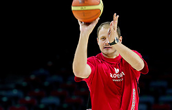 Raso Nesterovic during practice session of Slovenia National basketball team at Preliminary Round of Eurobasket Lithuania 2011, on September 4, 2011, in Arena Svyturio, Klaipeda, Lithuania. (Photo by Vid Ponikvar / Sportida)
