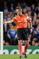 18.09.2013, Stamford Bridge, London, ENG, UEFA Champions League, FC Chelsea vs FC Basel, Gruppe E, im Bild Referee Wolfgang Stark during UEFA Champions League group E match between FC Chelsea and FC Basel at the Stamford Bridge, London, United Kingdom on 2013/09/18. EXPA Pictures © 2013, PhotoCredit: EXPA/ Mitchell Gunn <br /> <br /> ***** ATTENTION - OUT OF GBR *****