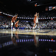 UNCASVILLE, CONNECTICUT- DECEMBER 4:  Gabby Williams #15 of the Connecticut Huskies shoots for three during the UConn Huskies Vs Texas Longhorns, NCAA Women's Basketball game in the Jimmy V Classic on December 4th, 2016 at the Mohegan Sun Arena, Uncasville, Connecticut. (Photo by Tim Clayton/Corbis via Getty Images)