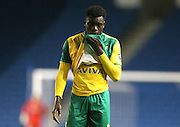 Norwich City's Michee Efete during the Barclays U21 Premier League Cup match between Brighton U21 and U21 Norwich City at the American Express Community Stadium, Brighton and Hove, England on 12 November 2015.