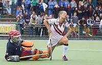 UTRECHT -  Keeper Stella de Heij stopt voor Kampong een shoot out tijdens de finale Veteranen hoofdklasse A dames tussen Kampong en Amsterdam. Kampong wint na shoot out. COPYRIGHT KOEN SUYK