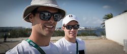 Brazil Rio de Janeiro 18. August 2016 Marina di Gloria, Rio 2016 Olympic Games<br /> Preparation day<br /> 49er SUI  Lucien Cujean SUILC1<br /> <br /> ©Jürg Kaufmann go4image.com
