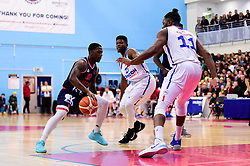 Jalan McCloud of Bristol Flyers is marked by Matthew Bryan-Amaning of London City Royals - Photo mandatory by-line: Ryan Hiscott/JMP - 26/04/2019 - BASKETBALL - SGS Wise Arena - Bristol, England - Bristol Flyers v London City Royals - British Basketball League Championship