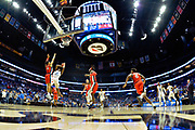 Middle Tennessee Blue Raiders forward Reggie Scurry (22) is defended by Mississippi Rebels guard Breein Tyree (4) during an NCAA college basketball game in Nashville, Tenn., Friday, Dec. 21, 2018. (Jim Brown/Image of Sport)