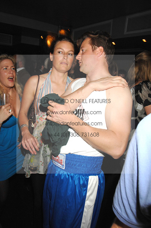 JESSICA CRAIG and HUGH CROSSLEY at the weigh-in party for the Boodles Boxing Ball held at Kitts 7-12 Sloane Square, London on 29th May 2008.<br /> <br /> NON EXCLUSIVE - WORLD RIGHTS