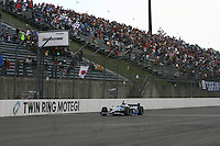 Danica Patrick wins her first Indy Racing race at the Indy Japan 300, Motegi, Japan 20/4/08