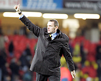 Photo: Marc Atkins.<br /> <br /> Watford v Hull City. Carling Cup. 24/10/2006.<br /> <br /> Watford Manager Adrian Bothroyd gives a thumbs up to the fans at the end of the game.