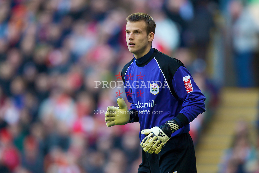 LIVERPOOL, ENGLAND - Saturday, February 16, 2008: Barnsley's goalkeeper Luke Steele during the FA Cup 5th Round match at Anfield. (Photo by David Rawcliffe/Propaganda)