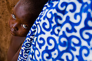 Child in the village of Wantugu, northern Ghana, during a national polio immunization exercise on Friday March 27, 2009.
