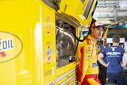 July 13, 2018 - Sparta, Kentucky, United States of America - Joey Logano (22) gets ready to practice for the Quaker State 400 at Kentucky Speedway in Sparta, Kentucky. (Credit Image: © Stephen A. Arce/ASP via ZUMA Wire)
