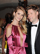 02.MAY.2011. NEW YORK<br /> <br /> ROSIE HUNTINGTON-WHITELEY AND CHRISTOPHER BAILEY ARRIVING AT THE COSTUME INSTITUTE GALA BENEFIT CELEBRATING ALEXANDER McQUEEN IN NEW YORK, AMERICA.<br /> <br /> BYLINE: EDBIMAGEARCHIVE.COM<br /> <br /> *THIS IMAGE IS STRICTLY FOR UK NEWSPAPERS AND MAGAZINES ONLY*<br /> *FOR WORLD WIDE SALES AND WEB USE PLEASE CONTACT EDBIMAGEARCHIVE - 0208 954 5968*