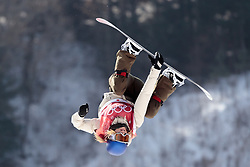 19.02.2018, Alpensia Ski Jumping Centre, Pyeongchang, KOR, PyeongChang 2018, Snowboard, Damen, Big Air, im Bild v.l. Mama Anna Gasser (AUT) // Anna Gasser of Austria during the Ladies Snowboard Big Air of the Pyeongchang 2018 Winter Olympic Games at the Alpensia Ski Jumping Centre in Pyeongchang, South Korea on 2018/02/19. EXPA Pictures © 2018, PhotoCredit: EXPA/ Johann Groder