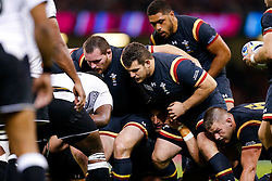 Wales replacement Aaron Jarvis scrummages - Mandatory byline: Rogan Thomson/JMP - 07966 386802 - 01/10/2015 - RUGBY UNION - Millennium Stadium - Cardiff, Wales - Wales v Fiji - Rugby World Cup 2015 Pool A.