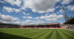 Griffin Park prepares for todays match up against Stoke City - Mandatory by-line: Jason Brown/JMP - Mobile 07966 386802 25/07/2015 - SPORT - FOOTBALL - Brentford, Griffin Park - Brentford v Stoke City - Pre-Season Friendly