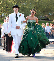 Chad Clive and Tia Stitt march in the Junior Prom for Laconia High School at Steele Hill Resort Friday evening.  (Karen Bobotas/for the Laconia Daily Sun)Laconia High School Junior Prom grand march at Steele Hill Resort Sanbornton May 13, 2011.