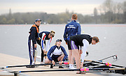 Caversham, GREAT BRITAIN,   GB,  M4+, left to right, Cox, Alan SHERMAN, Vicki HAINSFORD, Naomi RICHES, Alistair McKEAN, and JAMES MORGAN [LTA4+]GB Rowing,  Adaptive Rowing Media Day [athletes training for the Beijing Paralympics] [Mandatory Credit, Peter Spurrier / Intersport-images Rowing course: GB Rowing Training Complex, Redgrave Pinsent Lake, Caversham, Reading .  Adaptive, Rowing.
