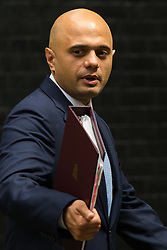 Downing Street, London, June 9th 2015. Sajid Javid, Secretary of State for Business, Innovation and Skills leaves 10 Downing Street following the weekly meeting of the Cabinet.