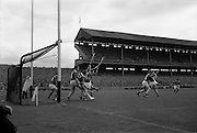 06/09/1964<br /> 09/06/1964<br /> 6 September 1964<br /> All-Ireland Senior Final: Tipperary v Kilkenny at Croke Park, Dublin.<br /> O. Walsh, C. Whelan, and P. Larkin fight hard to stop J. Doyle or S. McLoughlin from utilising the ball. The save was made only a few inches from the line.