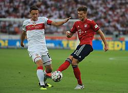 01.09.2018, VfB Stuttgart vs FC Bayern, Mercedes Benz Arena Stuttgart, Fussball, Sport, im Bild:....Christian Gentner (VFB Stuttgart) vs Leon Goretzka (FCB)..DFL REGULATIONS PROHIBIT ANY USE OF PHOTOGRAPHS AS IMAGE SEQUENCES AND / OR QUASI VIDEO...Copyright: Philippe Ruiz..Handy: 0177 29 39 408. (Credit Image: © Philippe Ruiz/Xinhua via ZUMA Wire)