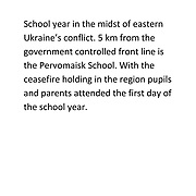 Ukraine - 1st School Day