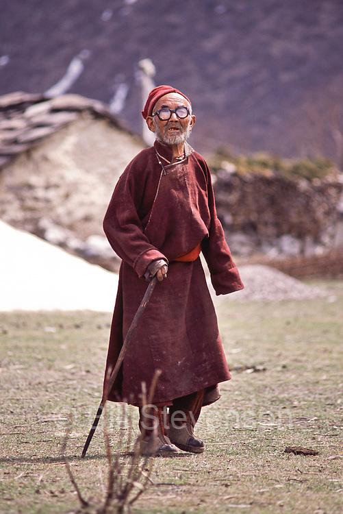 A Tibetan man in Samagaon village in Nepal.