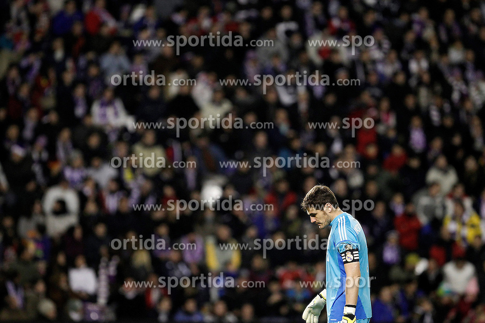 08.12.2012, Estadio Jose Zorrilla, Valladolid, ESP, Primera Division, Real Valladolid vs Real Madrid, 15. Runde, im Bild Real Madrid's Iker Casillas // during the Spanish Primera Division 15th round match between Real Valladolid CF and Real Madrid CF at the Estadio Jose Zorrilla, Valladolid, Spain on 2012/12/08. EXPA Pictures © 2012, PhotoCredit: EXPA/ Alterphotos/ Acero..***** ATTENTION - OUT OF ESP and SUI *****