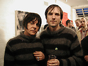 Genesis P-Orridge and Eric Heist, Candy factory, painting, sculpture and Installation. the Centre of attention. Cottons gdns. London. 6 April 2001. © Copyright Photograph by Dafydd Jones 66 Stockwell Park Rd. London SW9 0DA Tel 020 7733 0108 www.dafjones.com
