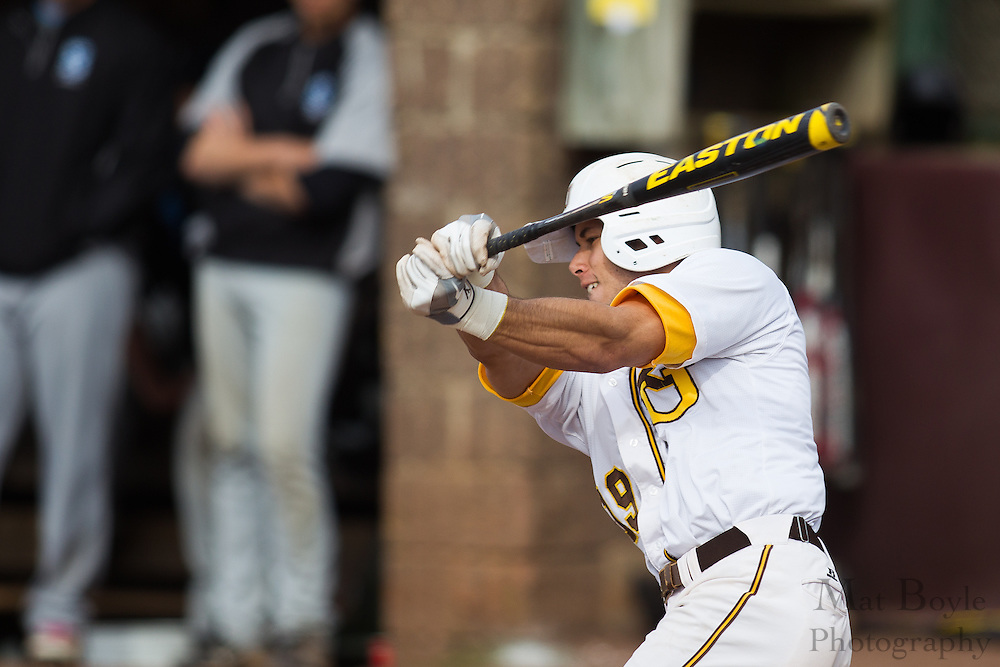 Rowan University Junior Outfielder Eric Perez (19) - Richard Stockton College Baseball at Rowan University at Rowan University in Glassboro, NJ on Thursday April 4, 2013. (photo / Mat Boyle)