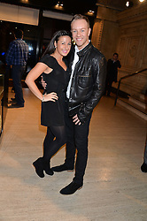 HAYLEY TAMADDON and DANIEL WHISTON at the opening night of Cirque du Soleil's award-winning production of Quidam at the Royal Albert Hall, London on 7th January 2014.