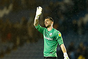 Keiren Westwood of Sheffield Wednesday gestures to the crowd after the EFL Sky Bet Championship match between Sheffield Wednesday and Luton Town at Hillsborough, Sheffield, England on 20 August 2019.