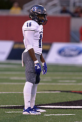 NORMAL, IL - September 08:  Javon Turner during 107th Mid-America Classic college football game between the ISU (Illinois State University) Redbirds and the Eastern Illinois Panthers on September 08 2018 at Hancock Stadium in Normal, IL. (Photo by Alan Look)