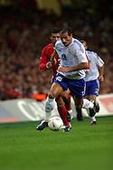 10.09.2003, Millenium Stadium, Cardiff, Wales..UEFA European Championship Qualifying match, Wales v Finland..Shefki Kuqi - Finland.©Juha Tamminen