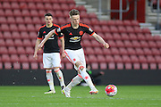 Manchester United U21 Scott McTominay during the Barclays U21 Premier League match between U21 Southampton and U21 Manchester United at the St Mary's Stadium, Southampton, England on 25 April 2016. Photo by Phil Duncan.