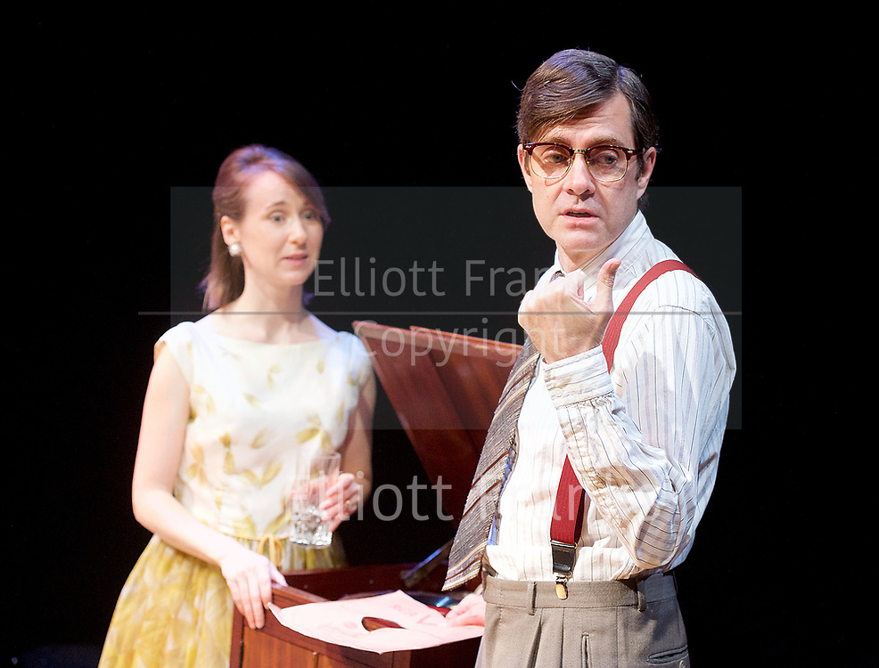 Twilight Song <br /> by Kevin Elyot <br /> Park Theatre, London, Great Britain <br /> Press photocall <br /> 13th July 2017 <br /> <br /> directed by Anthony Banks <br /> <br /> <br /> <br /> Bryony Hannah as Isabella <br /> <br /> Paul Higgins as Basil <br /> <br /> <br /> <br /> <br /> <br /> <br /> <br /> Photograph by Elliott Franks <br /> Image licensed to Elliott Franks Photography Services