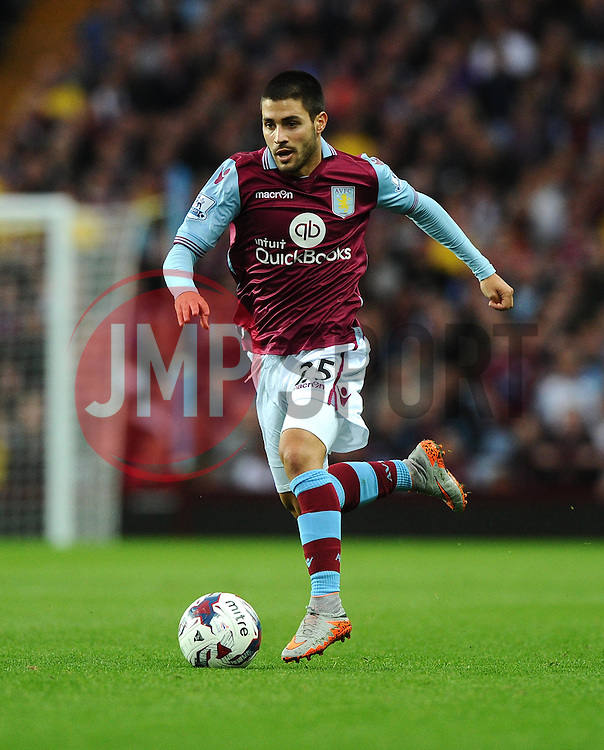 Carles Gil of Aston Villa  - Mandatory byline: Joe Meredith/JMP - 07966386802 - 25/08/2015 - FOOTBALL - Villa Park -Birmingham,England - Aston Villa v Notts County - Capital One Cup - Second Round