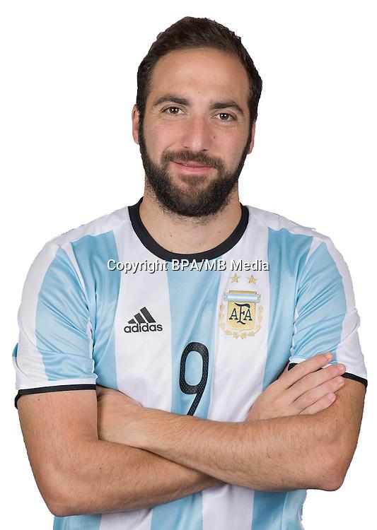 Football Conmebol_Concacaf - <br />Copa America Centenario Usa 2016 - <br />Argentina National Team - Group D -<br />Gonzalo Higuain