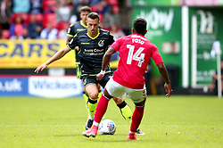 Billy Bodin of Bristol Rovers takes on Tariqe Fosu of Charlton Athletic - Mandatory by-line: Robbie Stephenson/JMP - 05/08/2017 - FOOTBALL - The Valley - Charlton, London, England - Charlton Athletic v Bristol Rovers - Sky Bet League One