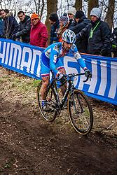 Vladimir KYZIVAT (41,CZE), 5th lap at Men UCI CX World Championships - Hoogerheide, The Netherlands - 2nd February 2014 - Photo by Pim Nijland / Peloton Photos