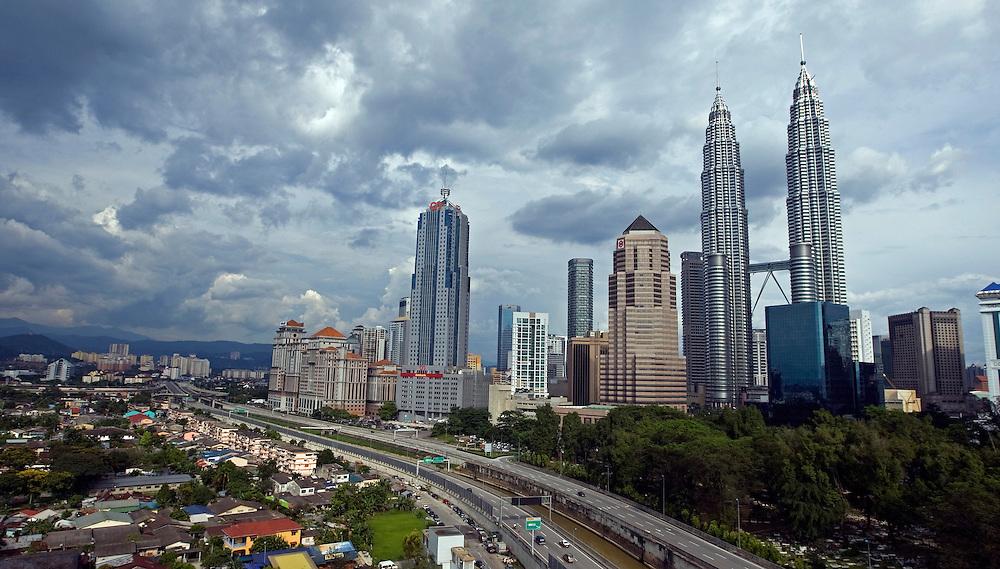A general scene of Kuala Lumpur skyline, Malaysia.