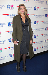 Tracey Emin  at the launch of the Flight BA2012 pop up restaurant in London, Tuesday 3rd April 2012.  Photo by: Stephen Lock / i-Images