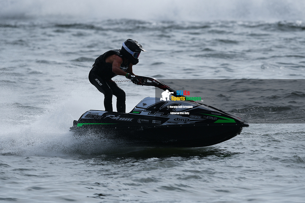 PATTAYA, THAILAND - DECEMBER 09: Ralphael Maurin of France and Pastorello Competition in action during the Pro Ski Grandprix Moto4 at the Thai Airways International Jet Ski World Cup 2018, Jomtien Beach, Pattaya, Thailand on December 09, 2018. <br /> .<br /> .<br /> .<br /> (Photo by: Naratip Golf Srisupab/SEALs Sports Images)<br /> .<br /> Any image use must include a mandatory credit line adjacent to the content which should read: Naratip Golf Srisupab/SEALs Sports Images