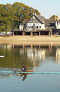 21/10/2003 Chiswick Boat Houses. Mortlake and Anglian Boat House - Hartington Road Chiswick London W4 - [Mandatory Credit: Peter Spurrier / Intersport Images]