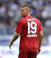 Fussball 2. Bundesliga:  Saison   2012/2013,    4. Spieltag  TSV 1860 Muenchen - MSV Duisburg    31.08.2012 Flamur Kastrati (MSV Duisburg)