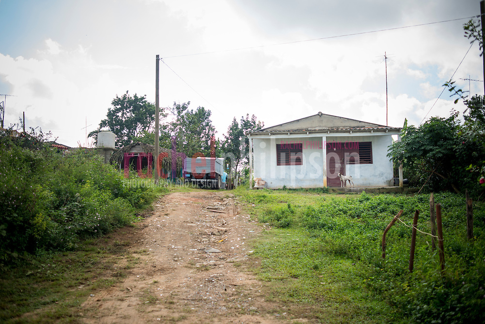 Cuba, Viñales, landscape, farm houses, trucks, dog