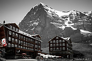 Hotels overlooking the North Face of the EIger and Jungfrau - scene of many movies