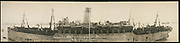 """World War I Panoramas <br /> <br /> These long panoramic photographs show U. S. military personnel and camps, patriotic parades, and European battlefields and cemeteries related to WWI.<br /> <br /> PHOTO SHOWS: Arriving in Boston, Thu., April 10th, 1919, Troopship """"Mongolia"""" with boys of the 26th (""""Yankee"""") Division, the first ship to sink a German submarine<br /> ©Library of Congress/Exclusivepix Media"""