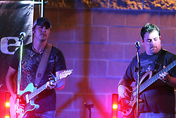 11 July 2012:  Dustin Reynolds and Marc Broomby of Brushfire Band perform a concert on the concourse of the Corn Crib Stadium at Heartland Community College in Normal IL