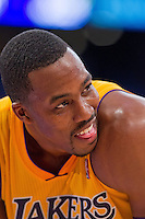 09 November 2012: Center (12) Dwight Howard of the Los Angeles Lakers against the Golden State Warriors during the second half of the Lakers 101-77 victory over the Warriors at the STAPLES Center in Los Angeles, CA.