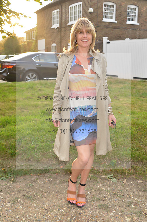 RACHEL JOHNSON attending Annabel Goldsmith's Summer party held at her home in Ham, Surrey on 10th July 2014.